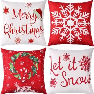 4PC Seasonal Christmas Pillow Set